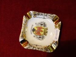 HB Wien ausztriai porcelán reklám hamutál. Kézzel festett, BURGERLAND címerével.