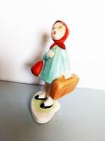 Ritka színű Bodrogkeresztúri utazó kislány türkizkék kabátos