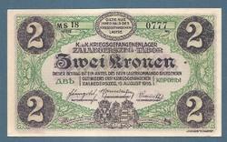 2 Korona Zalaegerszeg ( ZAE- 5b ) aUNC - UNC Sorozat előtt MS és sorszámmal