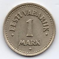 Észtország 1 észt Márka, 1924, ritka