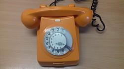 RETRO narancssárga telefon