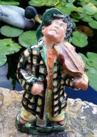 Szécsi kerámia hegedűs, nipp, figura