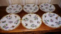 Herendi antik Viktória mintás süteményes tányér 6 db