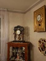 Antik bámulatos empire negyed ütős asztali óra!
