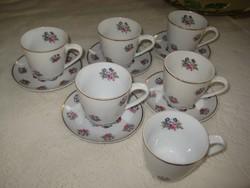 Zsolnay  mokkás csészék  I. o.  érdekes módon  duplán jelezve ,