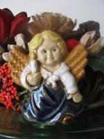 Karácsonyi kerámia angyal