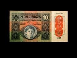 10 KORONA - WIEN - 1915 - KÉTOLDALAS - HU/D NYELV / DÖ PECSÉT