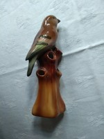 RITKA rendkívül érdekes porcelán madár lyukacsos faágon