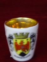 Ausztriai porcelán emlék kupica, BURGERLAND címerével.