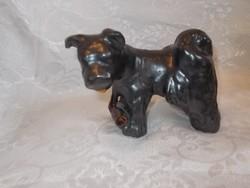 Régi bodrogkeresztúri kerámia puli kutya