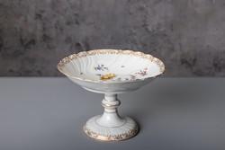 Porcelán, talpas asztalközép, régi