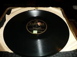 Gramofon lemez  Columbia Record - Házunk előtt mennek el a huszárok -Gyorscsárdás