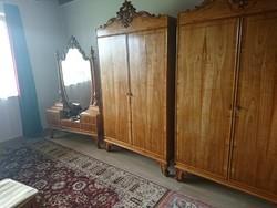 Felújított antik biedermeier hálószoba garnitúra 7 részes álom szép