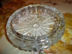 Olomkristály  üveg hamutál -súlyos, masszív darab