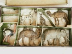 Antik papírmasé állatok Keonch Ferenc munkái Állatkert 1929