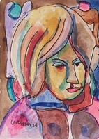 Németh Miklós - 30 x 20 cm akvarell, papír