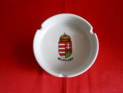 Porcelán hamu tartó, hamutál Magyar címerrel
