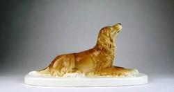 Gránit kerámia, nagyméretű szetter kutya talpazaton