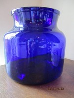 Nagyon szép régi nagyméretű kék üveg.