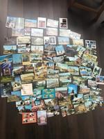 Rengeteg régi képeslap, utazás, sport, tánc stb.