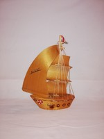 Balatoni emlék sokárbocos Fa hajó!Nagyméretű!!!