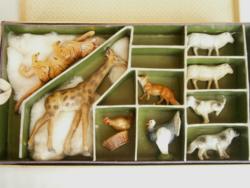 Antik papírmasé állatok Keonch Ferenc munkái 40 darab