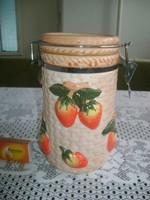 Kerámia fűszertartó domború eper díszítéssel - 20,5 cm