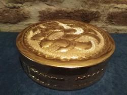 Sárgaréz dekoratív doboz