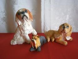 3 db tündéri kutya figura