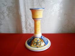 Nagyon ritka, régi, kézzel festett Dipinto A Mano Olasz gyertyatartó