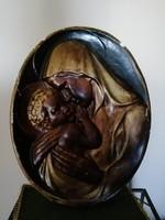 Nagyméretű gipsz falikép