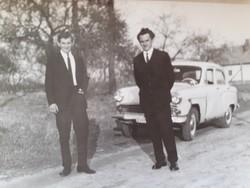 Régi fotó vintage autós fénykép 2 db