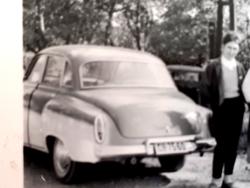 Régi fotó vintage autós autóbusz fénykép 2 db