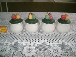 Kerámia fűszertartó - gyümölcsös - négy darab