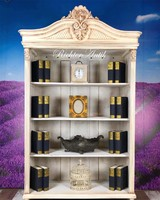 Vintage, Provence antikolt könyves szekrény 03.