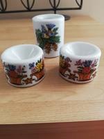 Német kőporcelán mini gyertyatartók