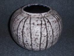 Retro kerámia nagy méretű gömb váza (g)