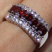 Csodálatos Rubin és Topáz köves gyűrű 8