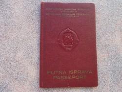 Régi Jugoslavija útlevél.1956