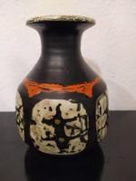 Gorka Lívia retro kerámia váza