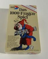 Das 1000 Fragen Spiel - Ezer kérdés játék - társas német nyelven
