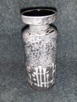 Iparművész mázas kerámia váza 18,5 cm (fp)