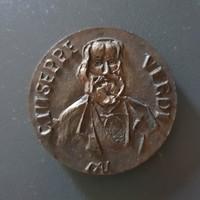 Bronz plakett - Kiss Nagy András: Verdi