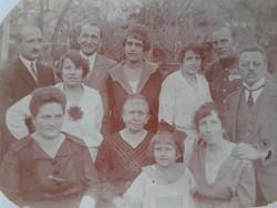 Régi fotó csoportkép vintage fénykép