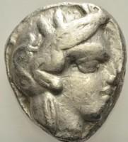 Attika Athén ezüst Tetradrachma    17,09 g 22-26mm