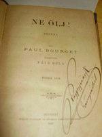 Paul Bourget: Ne ölj! I-II. kötet, 1887