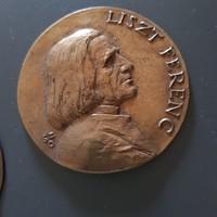 Bronz plakett - Szabó Gábor: Liszt Ferenc
