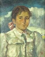 0Y255 Parobek Alajos : Menyecske portré