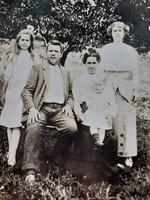 Antik fotó kartonfotó régi családi fénykép