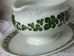 Fürstenberg Rebe porcelán szószos kiöntő, zöld leveles